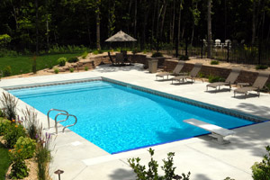 Lovely Back Yard Pool Installation MN