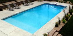 above ground blue swimming pool steel frame rectangular garden ...