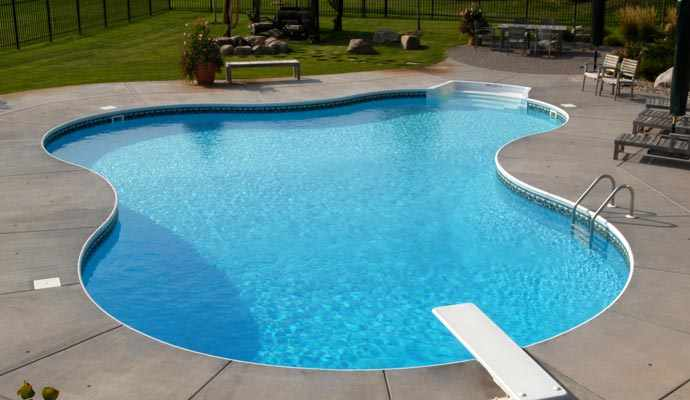 L shaped kidney pools mn for Pool design basics