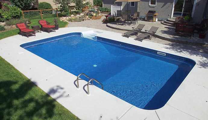 rectangular in ground swimming pool photos standard pools - Inground Pool Designs Ideas